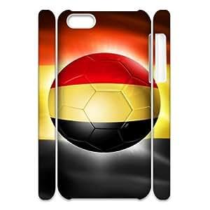 Lycase(TM) Football Soccer Flag Custom 3D Phone Case, Football Soccer Flag Iphone 5C 3D Case
