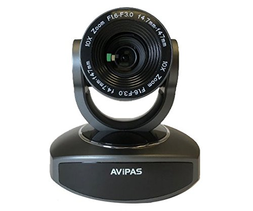 AV-1081G 10x HDMI PTZ Camera with IP Live Streaming - Dark Grey by AViPAS