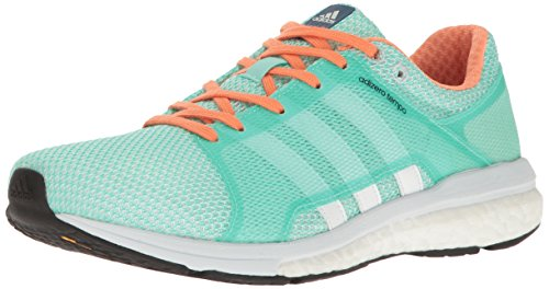 adidas Women's Adizero Tempo w Running Shoe Easy Green/White/Clear/Grey 9 M US