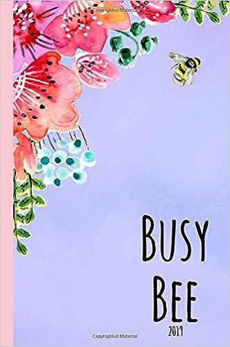 Busy Bee: 2019 Agenda, diary, Planner, Weekly, week view ...