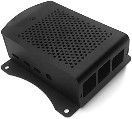 PETUNIA para Raspberry Pi 4B Caja de Aluminio Caja de Carcasa de Metal Negro Caja Negra Caja para RPI 4 Modelo B RPI 4B Caja Negra: Amazon.es: Hogar