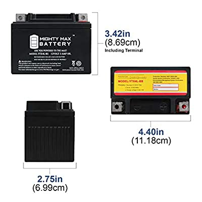 Mighty Max Battery YTX4L-BS Replacement for Scooter Battery Honda SE50 Elite (All) 50CC 87 Brand Product : Sports & Outdoors