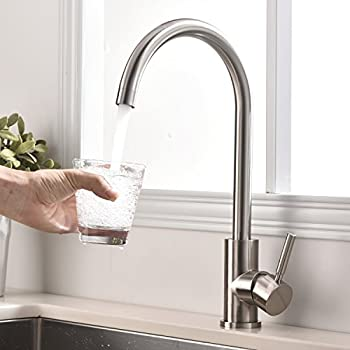 RV / Mobile Home Kitchen Sink Faucet, STAINLESS - 14.5