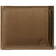 Leather Architect Men's 100% Leather RFID Blocking Bifold Wallet with Removable Card holder