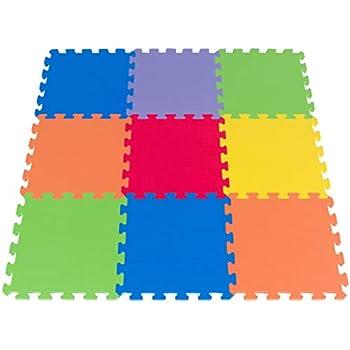 Amazon Com Foam Puzzle Play Mat For Kids 3x3 Feet