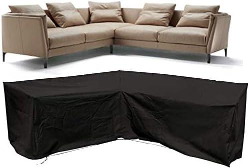 ERL Funda para sofá de patio, funda para sofá de esquina, cubierta para muebles de jardín, impermeable, resistente al agua (forma de V, 215 cm): Amazon.es: Hogar