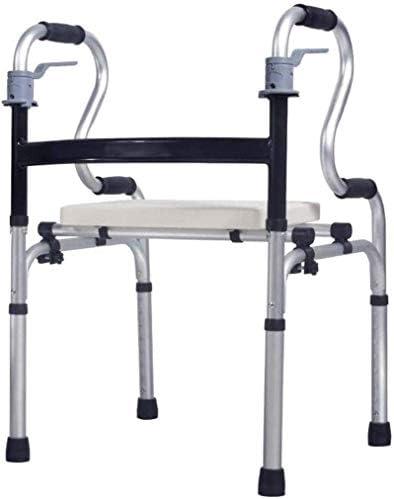 高齢者のためのシートハンドブレーキ医療アルミフレーム調整可能な標準ウォーカー付きエイドコンパクト折りたたみ式歩行器、障害者用、高齢者用歩行補助装置