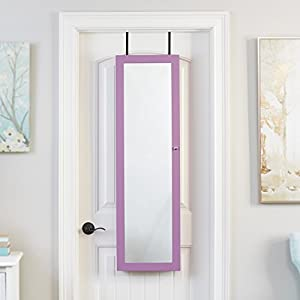 Mirrored Jewelry Armoire, Purple