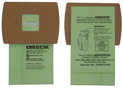 Oreck Compact Canister Vacuum For Oreck Bagged Pack / 12