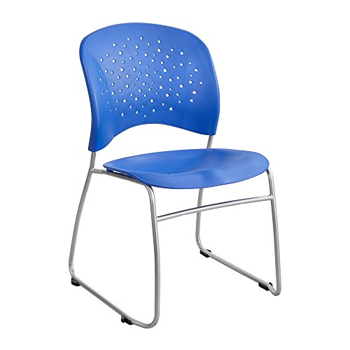 (Safco Products 6804BU Reve Guest Chair Sled Base with Round Back, (Qty. 2),)