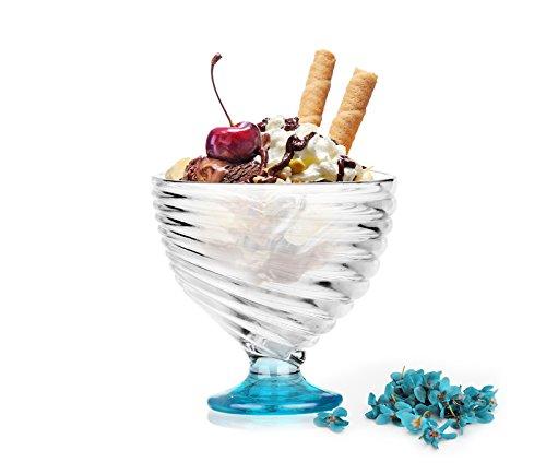 6er Eisbecher Mix Farben Dessertschalen Eisschalen Eisgläser Glas Eis Cream