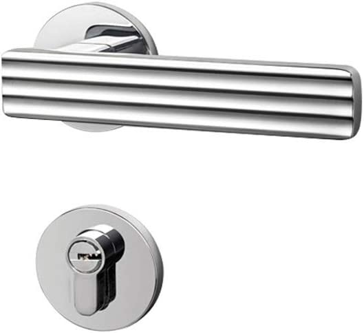 De acero inoxidable 1 juego de aleación de zinc manija de puerta simple bloqueo de la puerta fijado for madera maciza Puertas interiores adecuados for la puerta Espesor: 35 mm-50 mm Fácil instalación