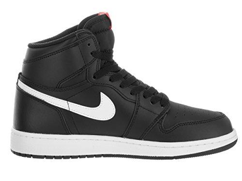 Nike Air Jordan 1 Retro High Og Bg, Zapatillas de Baloncesto para Niños Negro (Negro (black/white-black-university red))