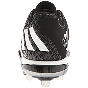adidas Men's Freak X Carbon Mid Baseball Shoe, Black/White/Metallic/Silver, (11.5 M US)