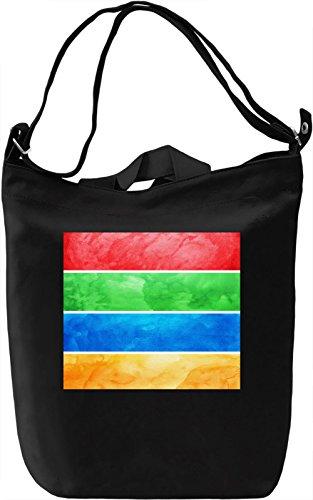 Colored watercolor texture Borsa Giornaliera Canvas Canvas Day Bag| 100% Premium Cotton Canvas| DTG Printing|