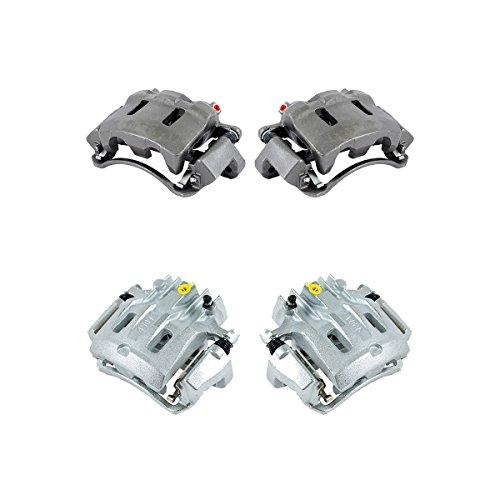(CCK01215 FRONT + REAR [ 4 ] Premium Grade Semi-Loaded OE Caliper Assembly Set Kit)