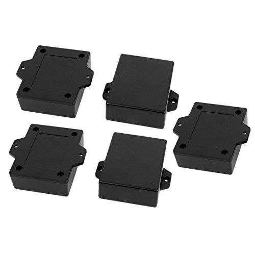 uxcell 63mmx50mmx22mm Plastic Enclosure Electric Project Case Junction Box Black 5pcs ()