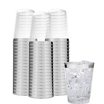 Belle Vous vasos de plástico reutilizable 300 ml, 24 piezas - transparente, apilable: Amazon.es: Amazon.es