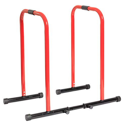 GoBeast Dip Stand with Stability Bar, Adjustable Height and Width, Easy Release Locking Pin, Max User Weight 330lbs 150kg