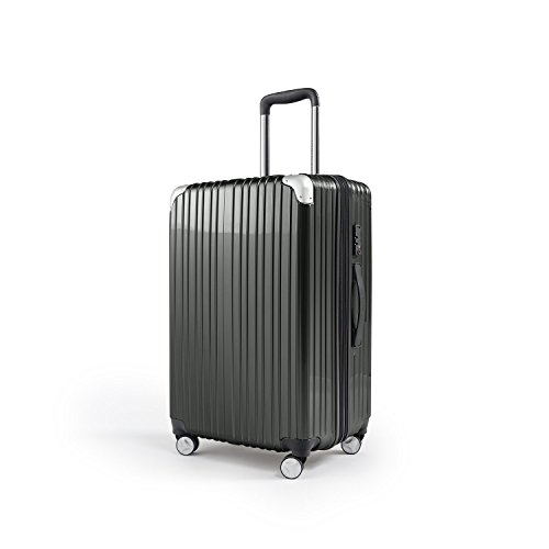 Nickel Strong Lightweight Luggage Compaclite Heritage PC Expandable Spinner 20 Inch Carry-On