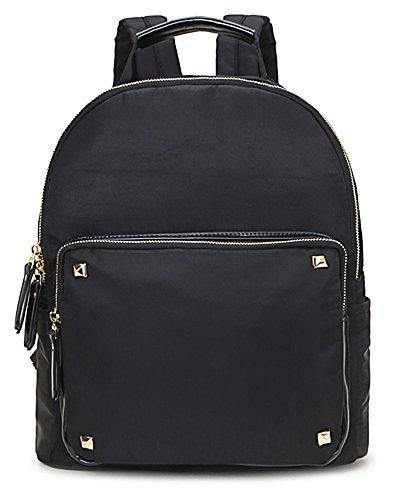 Big Handbag Shop - Bolso mochila de tela para mujer Design 2 - Black
