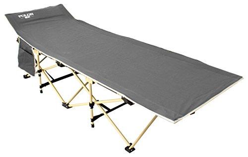 Cheerwing Portable Camping Cot Folding Camping Bed Cot with Storage Bag, Grey