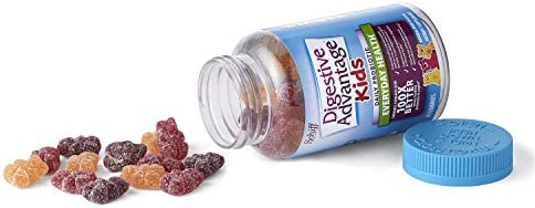 41qqjdPrGbL. AC - Digestive Advantage Daily Probiotic Gummy For Kids, 80 Count (Pack Of 1), Multi