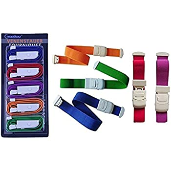 CaseBuy 5-Pack Elastic First Aid Quick Release Medical Sport Emergency Tourniquet Buckle