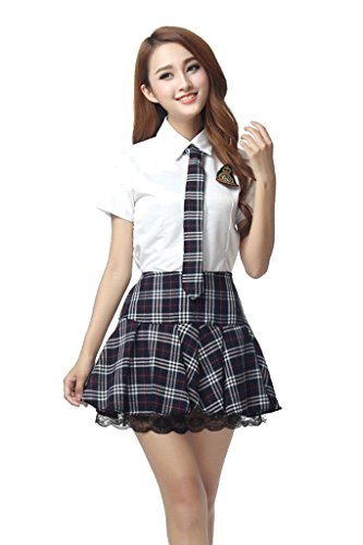 Japanese School Students Girl Uniform Japan Sailor Outfit Cosplay Costume Ladies (XL, (Japan Student Costume)