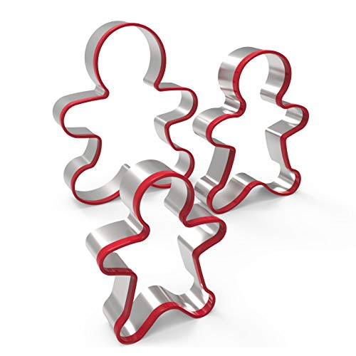 3pcs Gingerbread Man Cookie Cutters