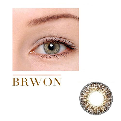 Caikedo Women Multicolor Cute Charm and Attractive Fashion Contact Lenses Cosmetic Makeup Eye Shadow - Brown
