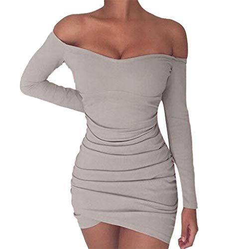【MOHOLL】 Women Wrap A Line Dress Casual Solid Pleated Length High Waist Mini Dress Gray
