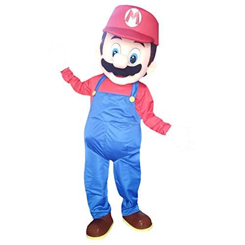 Super Mario Bros Character Mascot Costume Cosplay Red (Super Mario Mascot)