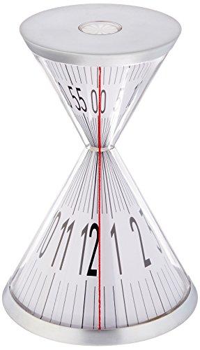Kikkerland Hourglass Desk Clock - David Dear Design Hour Glass Design Clock Red Line shows the current time - clocks, bedroom-decor, bedroom - 41qqkkf4ZAL -