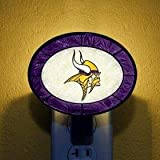 The Memory Company Minnesota Vikings Art Glass Night Light