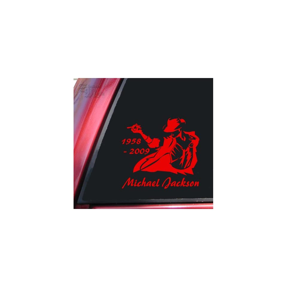 Michael Jackson 1958   2009 Vinyl Decal Sticker   Red