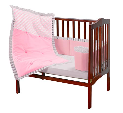 - Baby Doll Candyland Mini Port-a-Crib Bedding Set, Pink