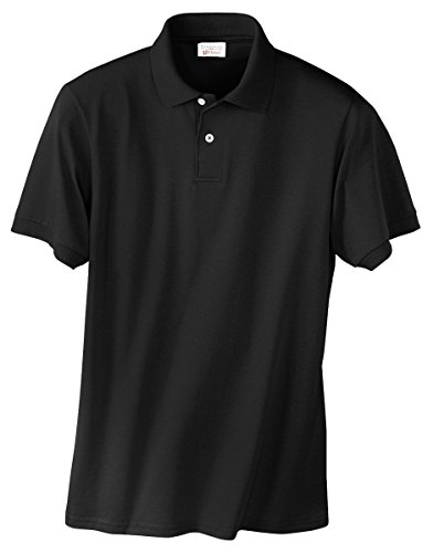 Stedman by Hanes 5.5 oz 50/50 Jersey Knit Polo in Black - (50 Blended Jersey Polo)