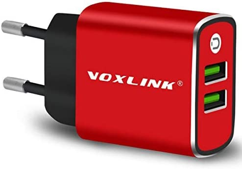 USB Cargador de Viaje con 2 Puertos Cargador Movil Universal, Aleación de Aluminio USB Adaptador para Huawei, Xiaomi, iPad, iPhone, Samsung,Teléfonos ...