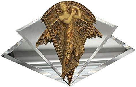 Art Nouveau Lady of the Peacock Gold /& Ebony Decorative Wall Sculpture Mirror