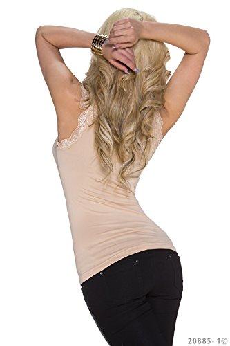 Flower Power - Camiseta sin mangas - para mujer Beige
