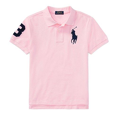 ys Big Pony Mesh Polo Shirt (M (10-12), Carmel Pink) ()