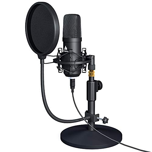 (USB Microphone Kit 192KHZ/24BIT MAONO AU-A04T PC Condenser Podcast Streaming Cardioid Mic Plug & Play for Computer, YouTube, Gaming Recording )