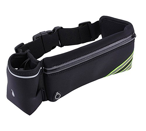Hydration Running Belt for Phone with Water Bottle Holder, Waterproof Fanny Pack Outdoor Travel Hiking Cycling Climbing Money Waist Bag for Men and Women