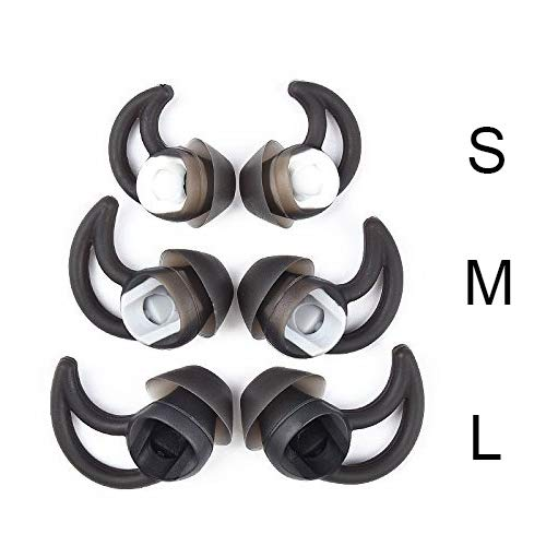 Replacement Silicone Earbuds Tips 3 Pairs Size S M L Fit Bose QC20 QuietControl 20 QC30 SIE2 IE3 Soundsport Wireless Earphones
