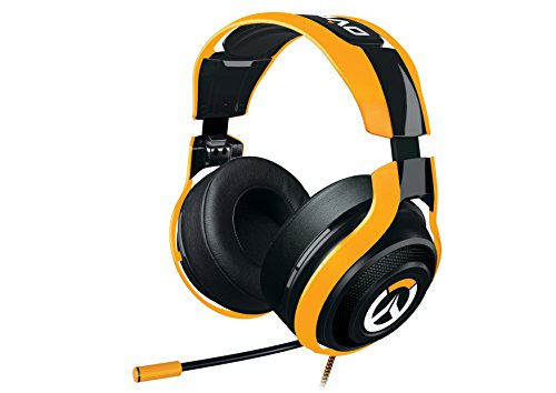 - Razer Overwatch ManO'War Tournament Edition: In-Line Audio Control - Unidirectional Retractable Mic - Rotating Ear Cups - Gaming Headset Works with PC, PS4, Xbox One, Switch, & Mobile Devices