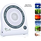 Stella Relaxation Sound Sleep + Light Soothing Machine, 6 Nature Sounds, 5 Color LED Night Light, USB cord Included.