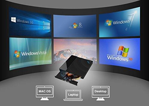 USB 3.0 External DVD Drive,Valoin Touch Control CD-RW DVD Burner Portable DVD Player for Laptop Desktop MacBook Windows XP/Win 7/Win 8/Vista/Linux/Mac OS by Valoin US (Image #2)
