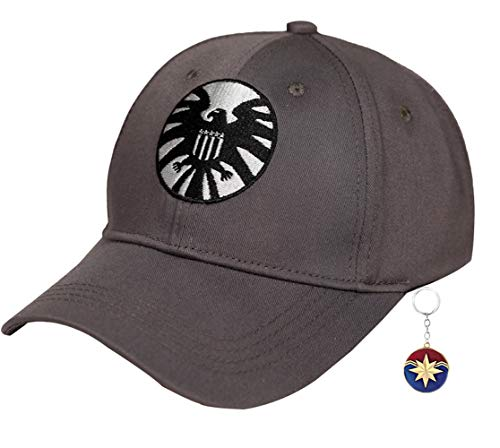 Captain Marvel Hat,Carol Danvers Hat Cap,Marvel Shield 2019 Hat for Women Men -
