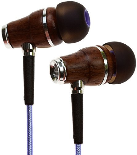 Symphonized NRG 2.0 Earbuds with Microphone, Noise Isolating Headphones Earbuds Heavy Deep Bass Earphones Ear Buds, in Ear Headphones for iPhone Android Phone iPad Tablet Laptop and (Metallic Purple)